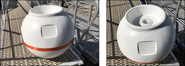 Mooring Buoy Pass-Thru Hardware Kit Bouy Boat Anchor